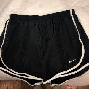 Nike Black with White Dri-Fit Running Shorts